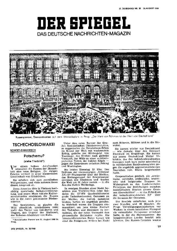 Der Spiegel 1968 august