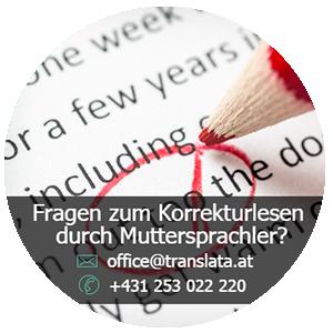 Korrekturlesen durch Muttersprachler